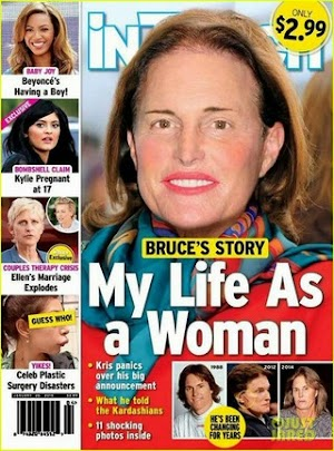 Bruce Jenner appears in drag and with breasts grown in magazine