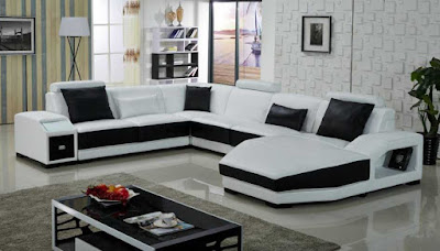 black and white sofa set designs for modern living room interiors (9)