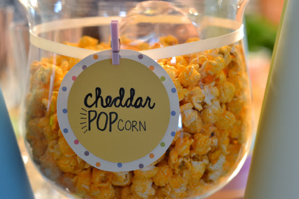 Cheddar popcorn station bar
