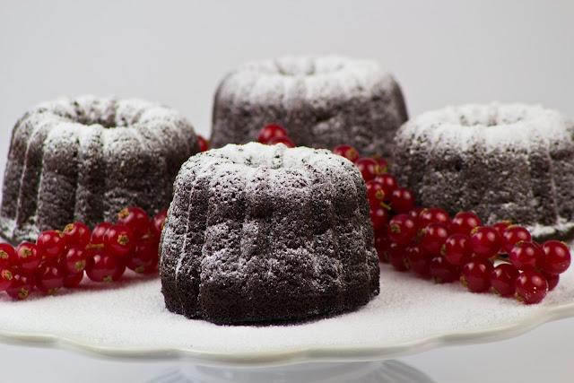 Mini chocolat bundt cake