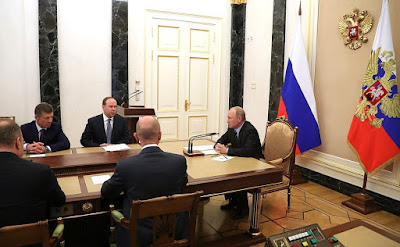 President of Russia Vladimir Putin with heads of regions elected on the unified voting day.