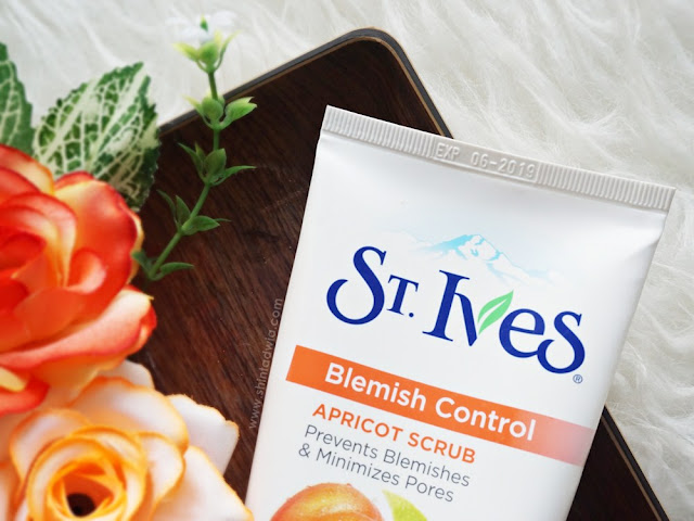 review st ives blemish control apricot scrub