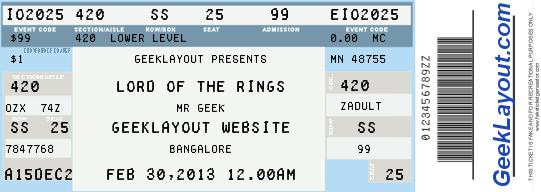Doc907453 Theatre Ticket Template Free Doc907453 Theatre – Printable Tickets Template Free