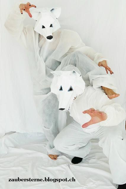 Maske, Faschingsmaske, DIY Maske, Maske kleistern, wintercroft selber machen, Wolfmaske