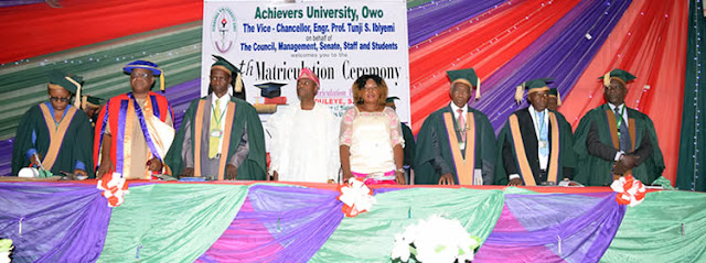 Achievers University 13th Matriculation Ceremony Date 2019/2020
