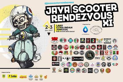 Poster acara Java Scooter Rendezvous XI di Jonggol