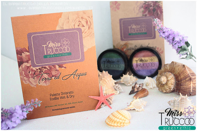 miss trucco eyeshadow palette ombretti terra e acqua  packaging  review