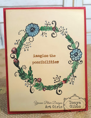 Doodle Wreath by Tonya GIbbs for Yvonne Blair Designs