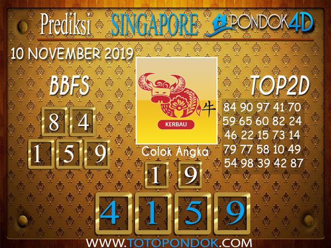 Prediksi Togel SINGAPORE PONDOK4D 10 NOVEMBER 2019