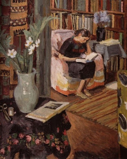 Image result for painting of a person reading a book