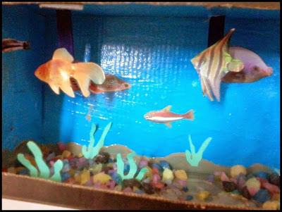 Resultado de imagem para aquario  caixa de sapato