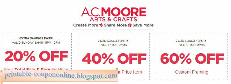 graphic about Ac Moore Printable Coupon named Ac moore coupon 2018 march : Flightsim pilot keep discount codes