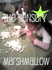 Sensory Marshmallows Game for Children fun for kids activities