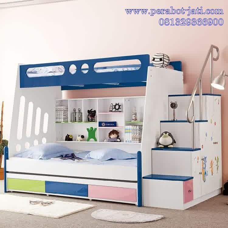 model tempat tidur anak perempuan 4