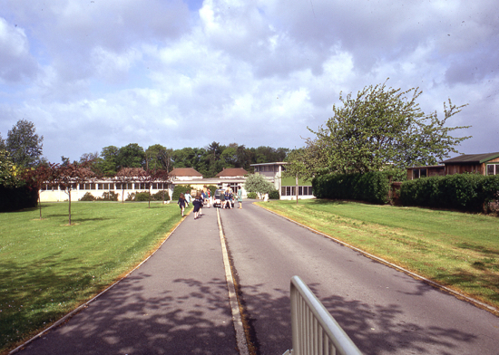 Photograph of the entrance to Brookmans Park Primary school in the 1980s, image courtesy of the former North Mymms Local History Society. Note: This image didn't appear in the original document by Lilian Caras but has been added for cosmetic reasons