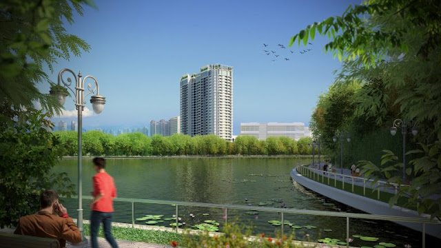 Eco Dream gần sát ngay 2 công viên lớn và hồ điều hòa