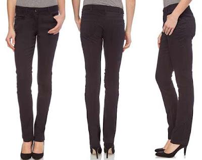 Pantalon para mujer de color negro y corte slim