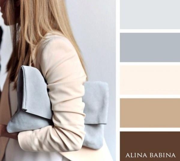 Como mezclar colores en tu ropa como vestir for Paleta de colores grises
