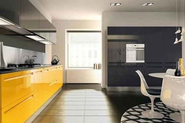 Desain Dapur Mewah Dengan Nuansa Kuning