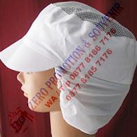 Topi Karyawan Pabrik, Topi Pet Sanggul, Topi Produksi