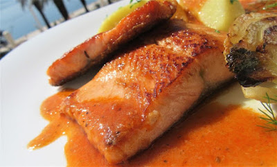 Pastrva iz tave s umakom / Trout from the pan with the sauce