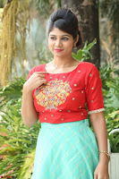 Lucky Shree Looks super cute in Bright Red Green Anarkali Dress ~  Exclusive 050.JPG