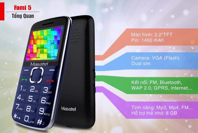 điện thoại masstel fami 5
