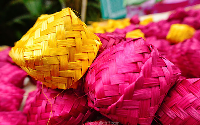 Hasil karya anyaman bambu di desa wisata Malangan