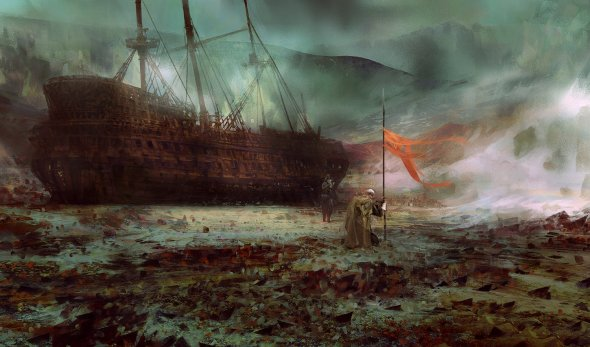 Simon Goinard ilustrações pintura digital arte conceitual fantasia medieval sombria realista impressionista
