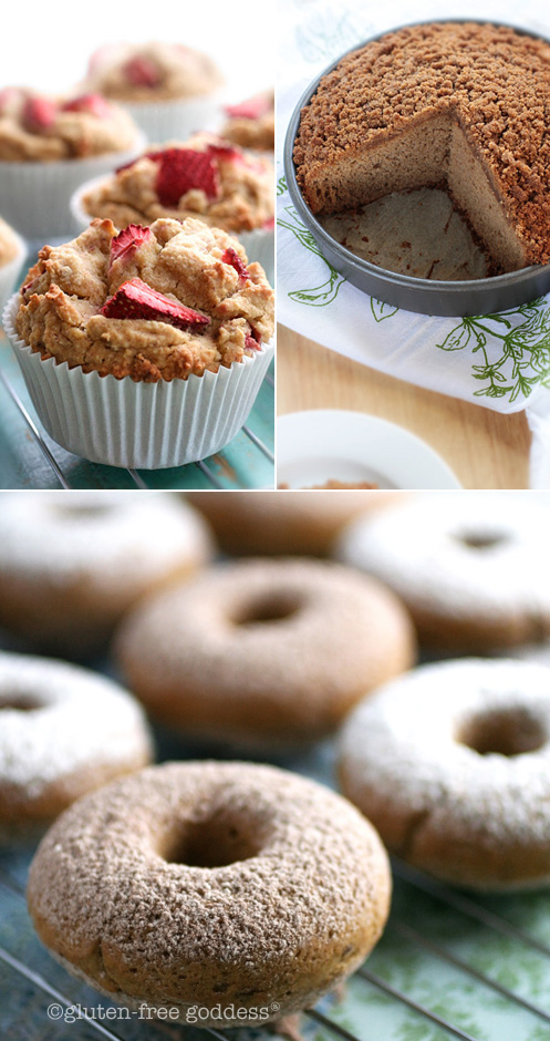 Gluten-Free Goddess Muffin, Scone, Donut + Coffee cake Recipe Index