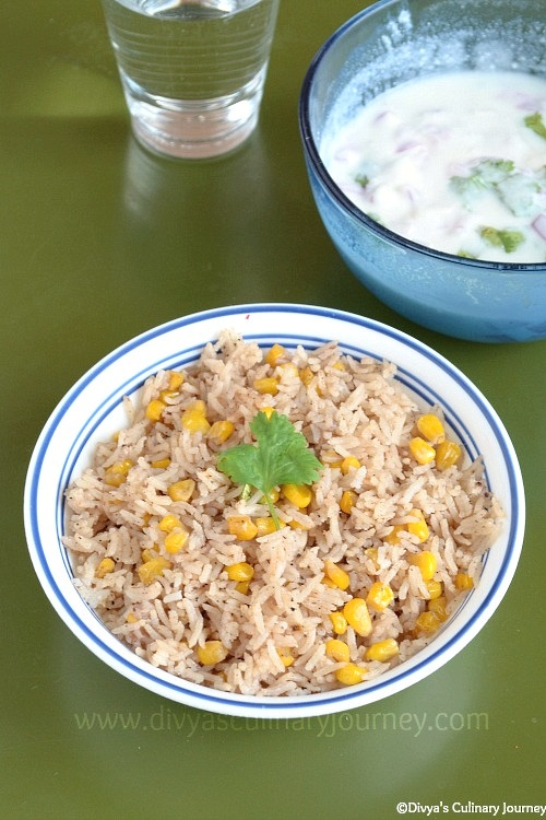 Flavorful one pot meal made with corn and spices