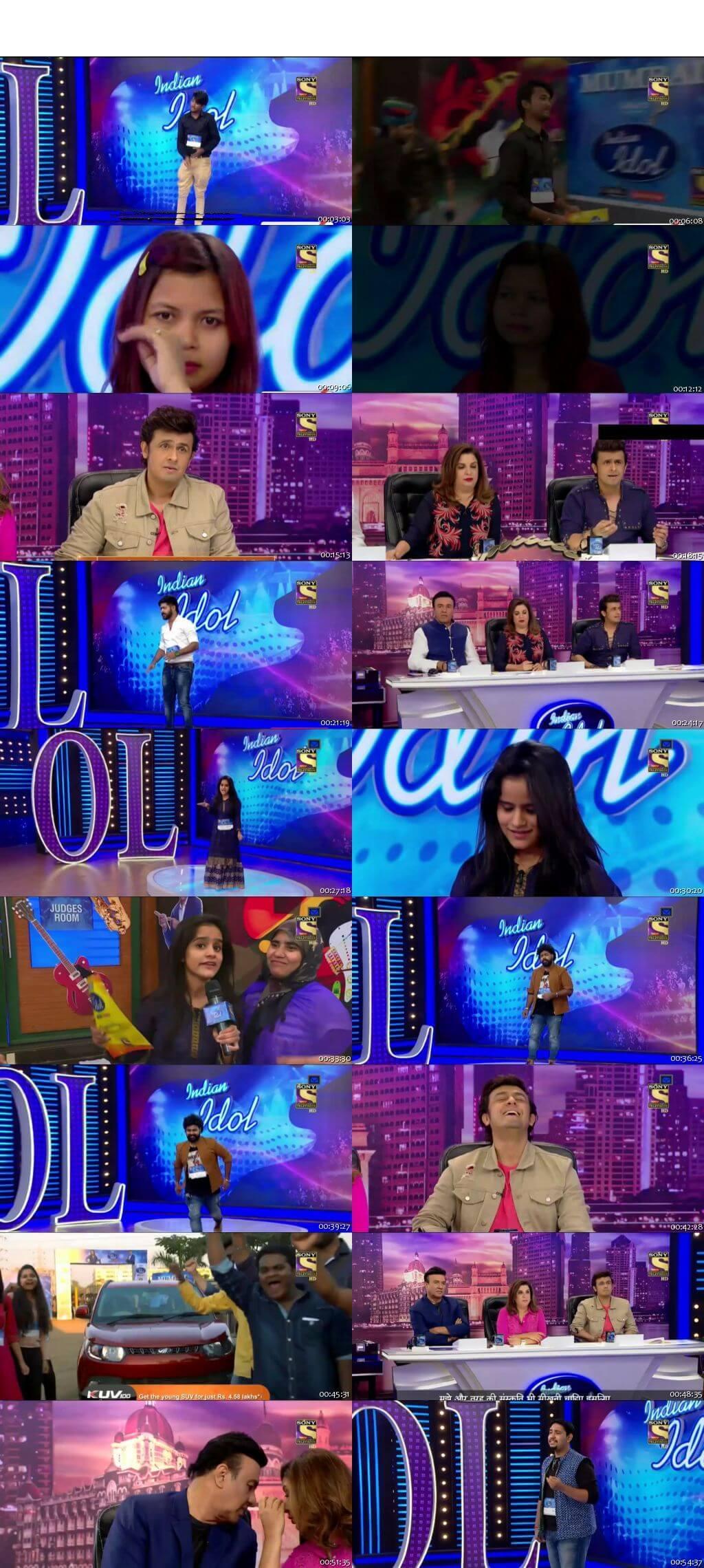 Screenshots Of Hindi Show Indian Idol 31st December 2016 Episode 03 300MB 480P HD