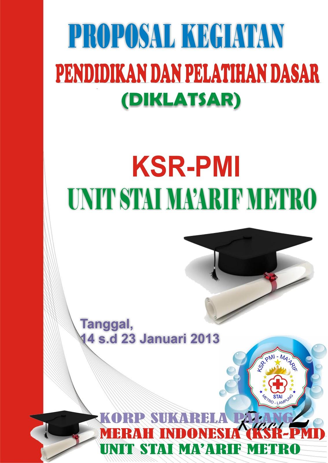 Contoh Cover Proposal Ksr Pmi Unit Stai Ma Arif Metro Lampung Keren
