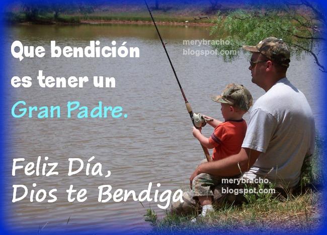 frases y mensajes cristianos. Feliz Día Padre 2014, Dios te Bendiga Siempre. Imágenes para felicitar a papá con un te quiero.