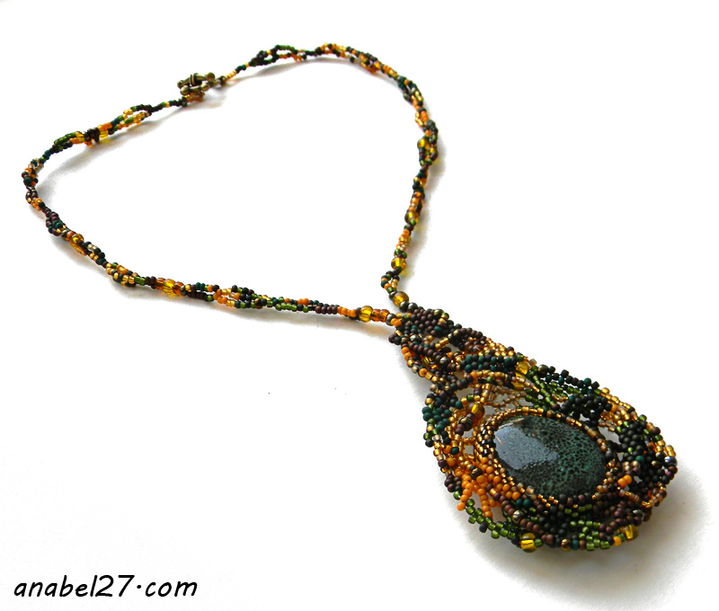 beadwork freeform necklace beads