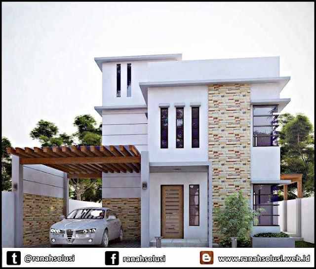 Contoh Gambar Desain Rumah Minimalis 2 Lantai Mewah