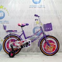 16 morison sepeda anak perempuan purple