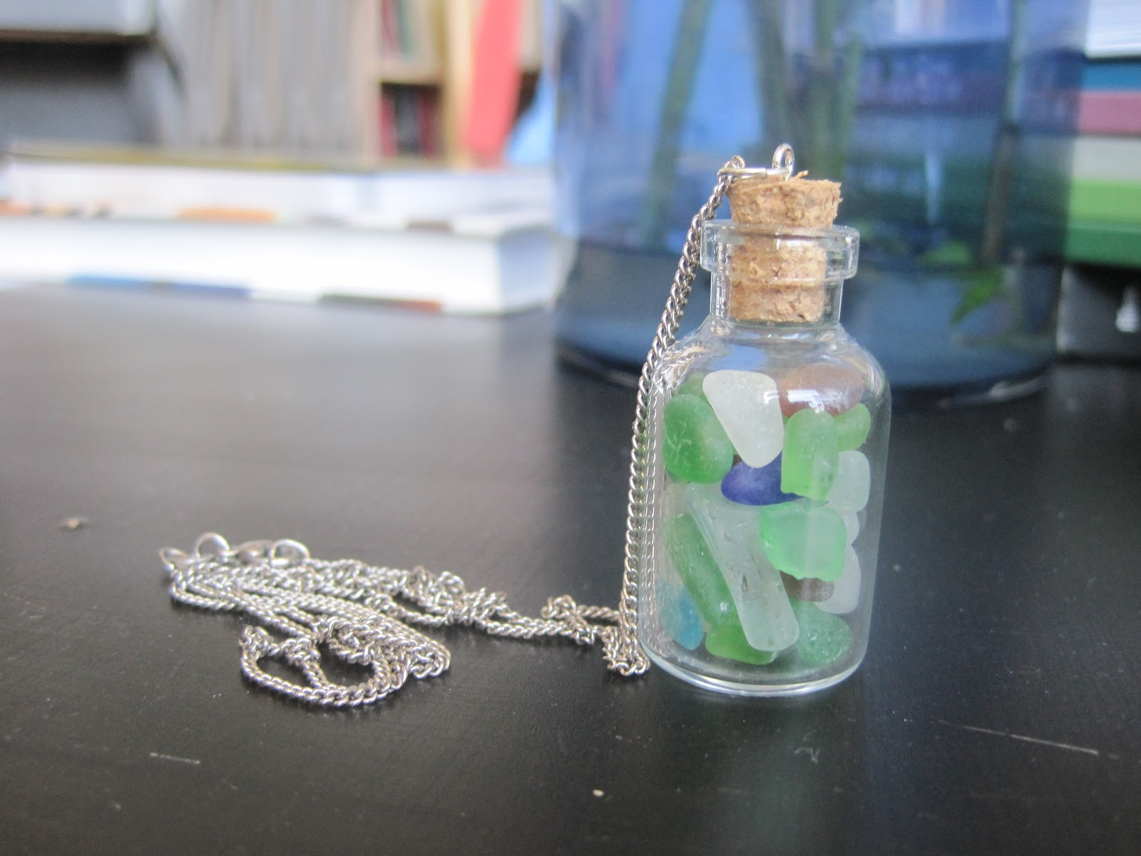 Evelyn's Sewing Projects: Sea glass necklace
