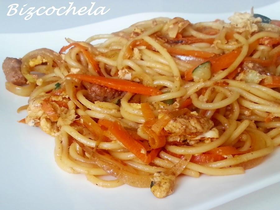 Espaguetis tres delicias