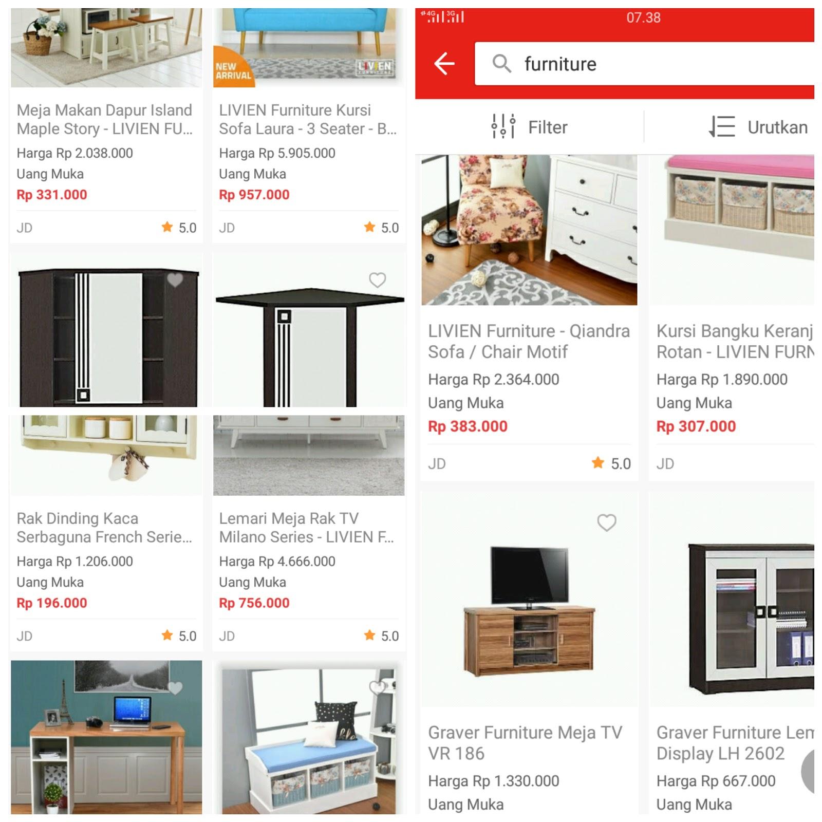 Pilihan lemari rak dan kitchen set di akulaku
