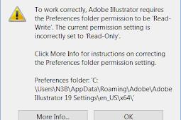 Adobe Illustrator Preference Folder Read Only Error Solution