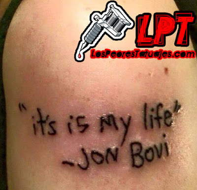 Tattoo Fail : Bon Jovi
