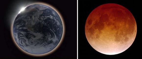 Moon Consumed with Earth's Shadow and turns a shade of orange red
