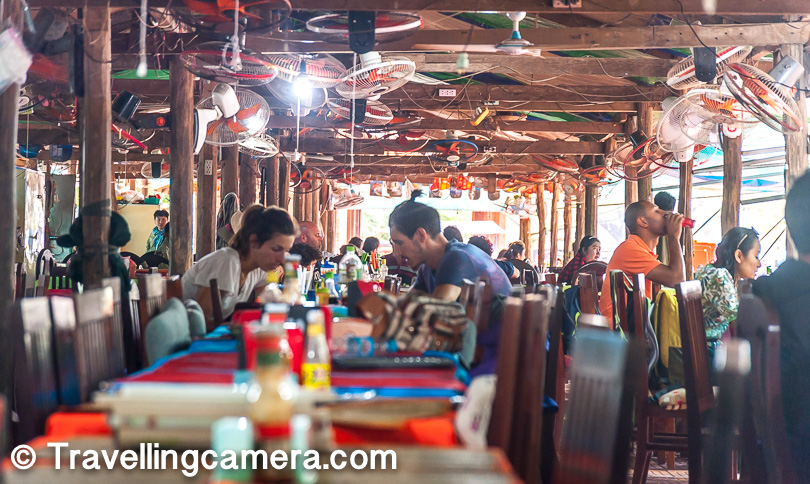However, if you haven't been able to carry food and do not mind the seafood aroma, you can find some good, authentic Khmer food here. You can also order fries for kids and some very refreshing shakes