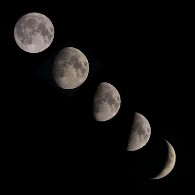 waxing moon composite