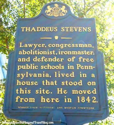 Thaddeus Stevens Historical Marker in Gettysburg Pennsylvania