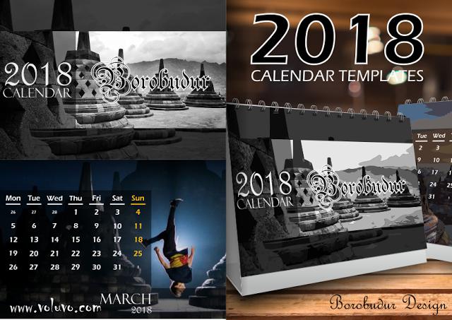 MI HAYATUL ISLAM: Borobudur Kalender Meja 2018 Template ...