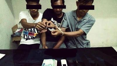 Lagi...Tiga Terduga Pelaku Narkoba di Amankan Polres Kampar