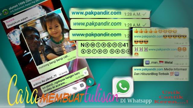 Cara Membuat Tulisan Di Whatsapp Unik Keren Bervariasi Whatsapp Aplikasi Chat Terbaik Whatsap