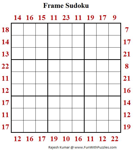 Sum Frame Sudoku (Daily Sudoku League #179)